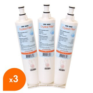 Filtre Crystal Filter® 4812 817 28986 CRF4088 compatible Whirlpool® (lot de 3)