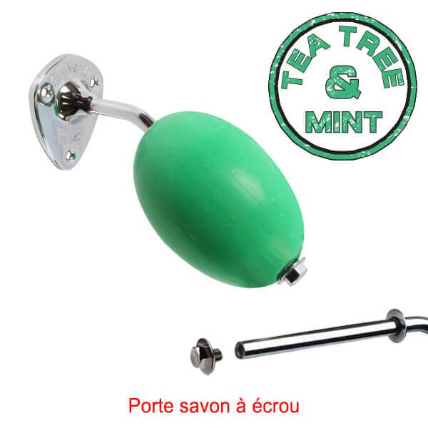 Savon vert rotatif tea tree and mint provendi avec porte for Support a savon