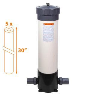 Carter multi-cartouches FHPVC-30x5-A Crystal Filter® - 5 x 30 pouces