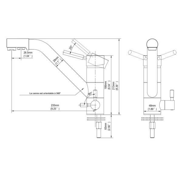 robinet mitigeur 3 voies samoa blanc waterconcept. Black Bedroom Furniture Sets. Home Design Ideas