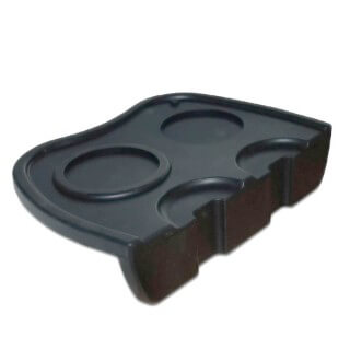 Tapis de tassage Barista en silicone noir - Filter Logic® CFL-645B