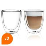 Tasses à café / cappuccino en verre double paroi - Filter Logic® CFL-660B