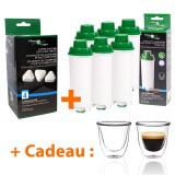 Filtre à eau compatible Delonghi + Détartrant + Tasses à café offertes