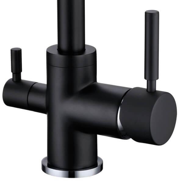 robinet col de cygne 3 voies biscayne noir 007196. Black Bedroom Furniture Sets. Home Design Ideas