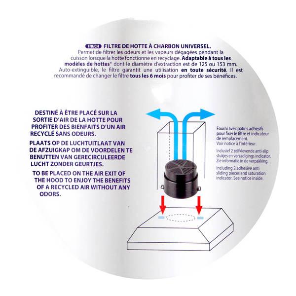 Unf Universel  Charbon  Filtre Hotte Aspirante  Whirlpool