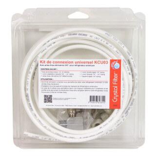 Kit de connexion universel KCU03 pour réfrigérateur - Crystal Filter®